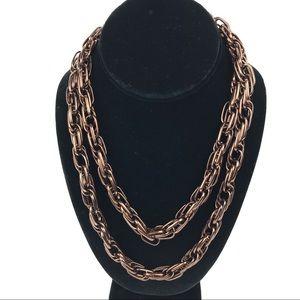 """Alfani Chunky Bronze Chain Necklace 40"""" NWOT"""
